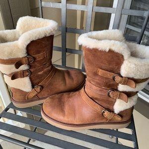 Women's brown chestnut tall ugg boots 9